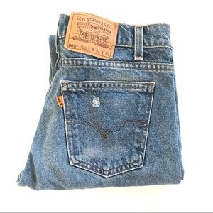 Vintage high waist orange tab Levis jeans
